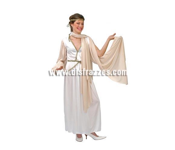 Disfraz de Romana adulta para Carnavales. Talla única hasta la 42/44. Incluye cinta de la cabeza, manto y vestido.