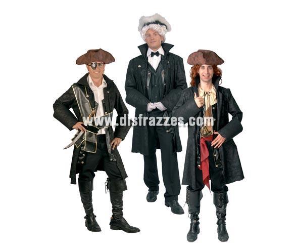Chaqueta de Pirata o de Lord adulto para Carnavales. Talla única 52/54. Incluye la chaqueta con la que te podrás disfrazar siguiendo tu imaginación tanto de Pirata, como de Época, al ser una prenda muy versátil.