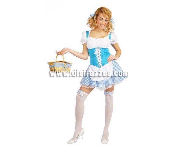Disfraz de Campesina Tirolesa Sexy azul adulta para Carnavales. Talla única 38/40. Incluye vestido. ¡¡Compra tu disfraz para Carnaval en nuestra tienda de disfraces, será divertido!!