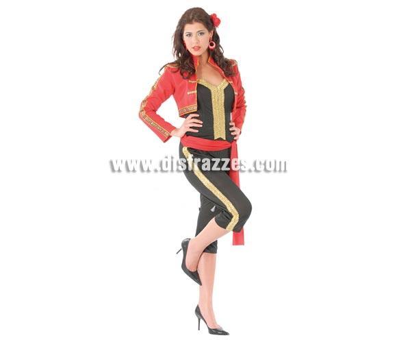 Disfraz de mujer Torera adulta para Carnavales. Talla única hasta la 42/44. Incluye chaquetilla, blusa, cinturón y pantalón. ¡¡Compra tu disfraz para Carnaval en nuestra tienda de disfraces, será divertido!!
