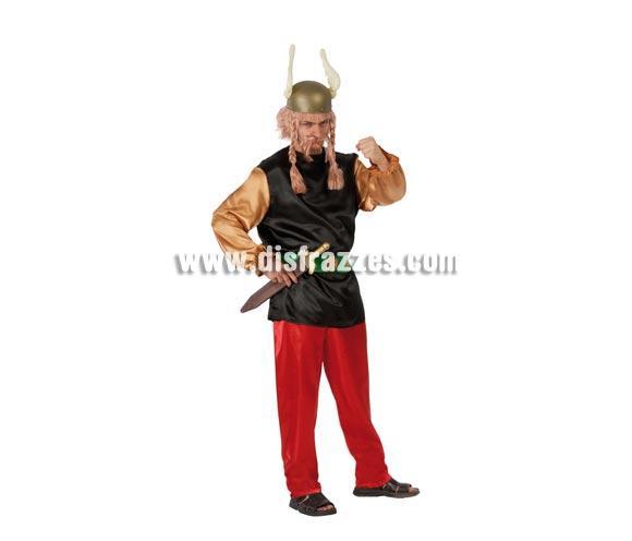 Disfraz de Galo adulto para Carnavales. Talla única 52/54. Incluye casaca, cinturón y pantalón. Espada, casco, peluca y bigote NO incluidos, podrás verlos en la sección de Accesorios. Perfecto disfraz para imitar a Astérix.