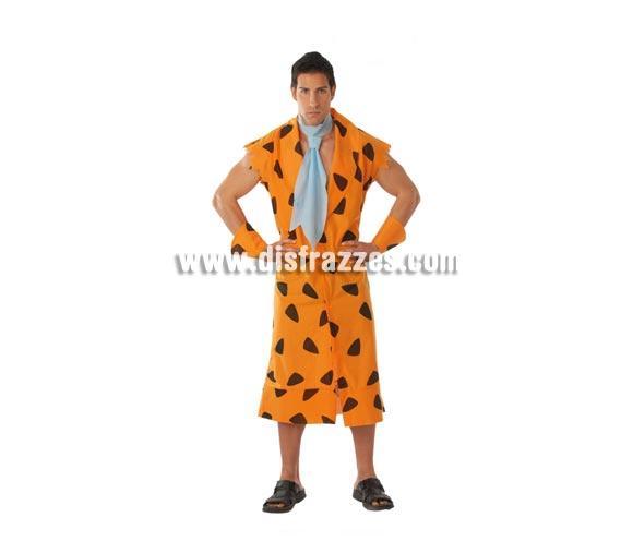 Disfraz de Pedro Picapiedra adulto para Carnavales. Talla única 52/54. Incluye corbata, vestido y manguitos. ¡¡Compra tu disfraz para Carnaval en nuestra tienda de disfraces, será divertido!!
