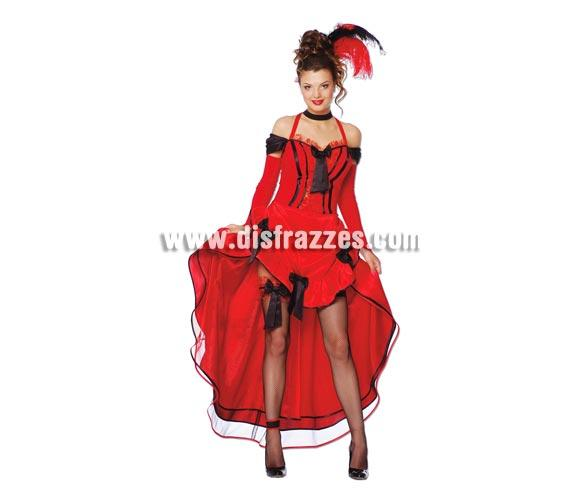 Disfraz de mujer Can-Can Sexy adulta para Carnavales. Talla única hasta la 42/44. Incluye vestido y mangas. Plumas NO incluidas. ¡¡Compra tu disfraz para Carnaval en nuestra tienda de disfraces, será divertido!!