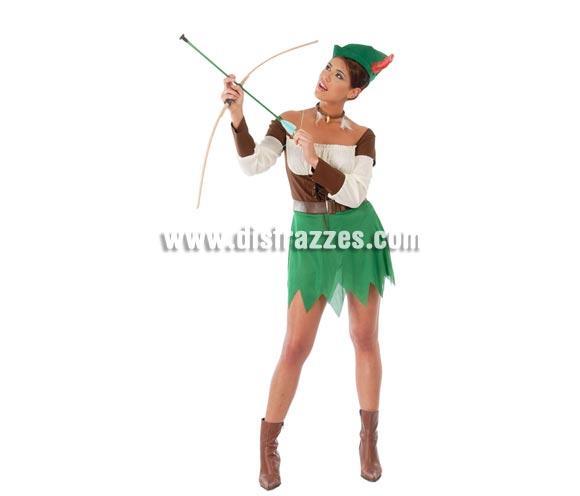 Disfraz Sexy de Robin Hood mujer adulta para Carnavales. Talla única hasta la 42/44. Incluye gorro, camisa, cinturón y falda. ¡¡Compra tu disfraz para Carnaval en nuestra tienda de disfraces, será divertido!!