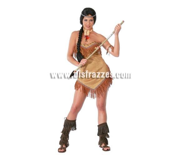 Disfraz barato de India adulta para Carnavales. Talla única 38/40. Incluye vestido. Lanza NO incluida, podrás verla en la sección de Accesorios con las ref. 505SR o IC077LI.