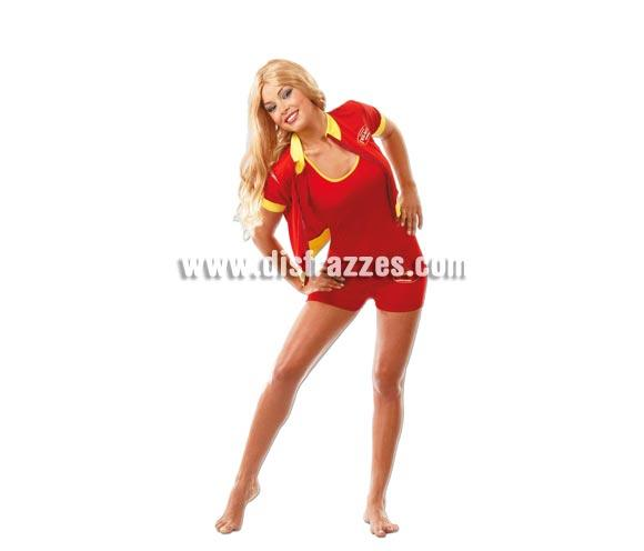 Disfraz de la serie Los Vigilantes de la playa Sexy adulta para Carnavales. Talla única hasta la 42/44. Incluye chaqueta y bañador. Disfraz de Socorrista o de Pamela Anderson para chicas. ¡¡Compra tu disfraz para Carnaval en nuestra tienda de disfraces, será divertido!!