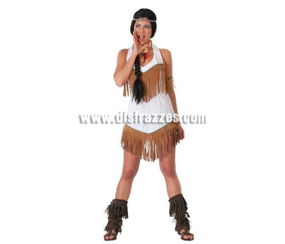 Disfraz barato y Sexy de India adulta para Carnavales. Talla única 38/40. Incluye cinta de la cabeza y vestido.