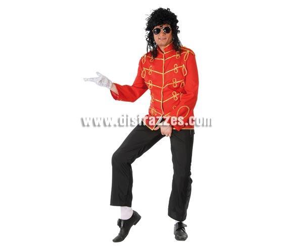Chaqueta Rey del Pop adulto para Carnavales. Talla única 52/54. Incluye sólo la chaqueta para ir igual que Michael Jackson. ¡¡Compra tu disfraz para Carnaval en nuestra tienda de disfraces, será divertido!!