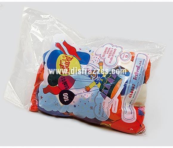 Globos redondos de colores variados (Bolsa de 100).