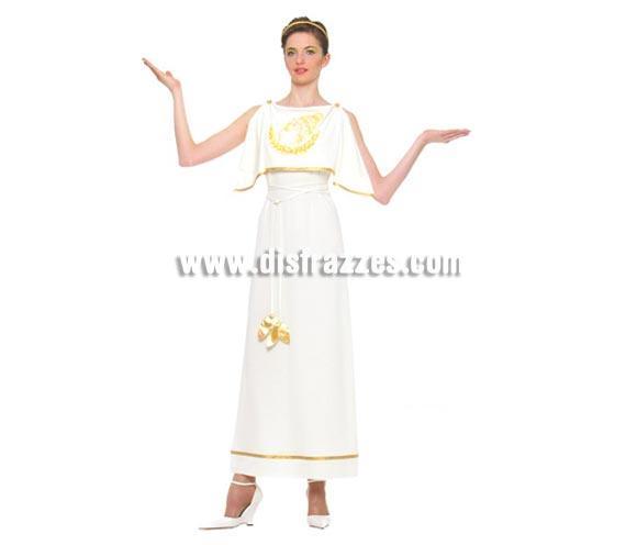 Disfraz de Romana adulta para Carnavales. Talla única hasta la 42/44. Incluye cinta de la cabeza, vestido y cinturón.