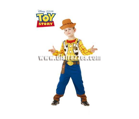 Disfraz de Woody Classic infantil para Carnavales. Talla de 5 a 6 años. Incluye jumpsuit impreso (mono) y medio gorro de EVA. Disfraz con licencia de la película Toy Story perfecto para regalar. Éste traje es perfecto para Carnaval y como regalo en Navidad, en Reyes Magos, para un Cumpleaños o en cualquier ocasión del año. Con éste disfraz harás un regalo diferente y que seguro que a los peques les encantará y hará que desarrollen su imaginación y que jueguen haciendo valer su fantasía.  ¡¡Compra tu disfraz para Carnaval o para regalar en Navidad o en Reyes Magos en nuestra tienda de disfraces, será divertido y quedarás muy bien!!