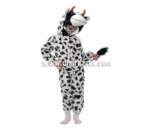 Disfraz barato de Vaca Baby para Carnavales. Talla de 12 a 24 meses. Incluye mono con capucha.