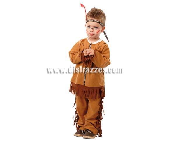Disfraz barato de Indio Baby para niños. Talla de 12 a 24 meses. Incluye camisa, pantalón y cinta de la cabeza. Perfecto para jugar a Pistoleros e Indios.