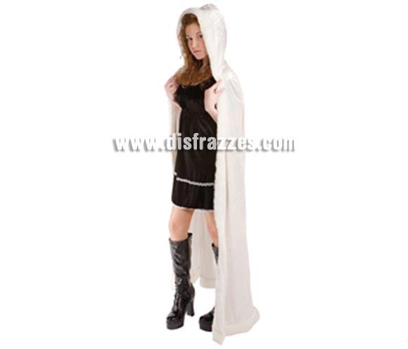 Capa Reina de las Nieves con capucha para mujer. Talla estandar de mujer. Incluye capa con capucha.