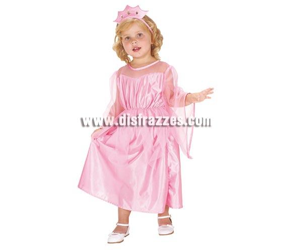Disfraz de Princesita rosa para niña. Talla de 1 a 2 años. Incluye vestido y tocado. Para jugar a ser auténticas princesas.