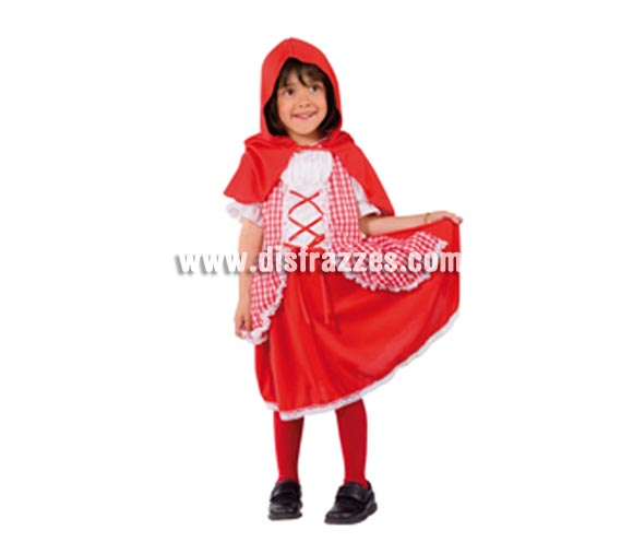 Disfraz de Caperucita Roja para niñas. Talla 5 a 7 años. Incluye vestido y capa con capucha. Disfaz que divierte mucho a los niños, ideal para fiestas y carnaval.