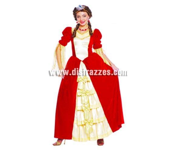 Disfraz de Duquesa para mujer. Talla única válida hasta la 42/44. Incluye el vestido. Peluca y Diadema NO incluidas, podrás verlas en la sección Complementos. Éste disfraz si no le pones la tiara o diadema, también puede usarse como disfraz de Dama Medieval ya que el corte y la apariencia son iguales.