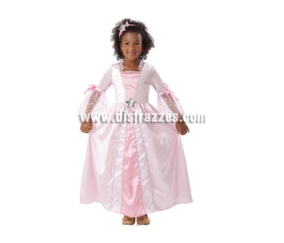 Disfraz barato de Princesa Rosa con estrellitas infantil para Carnaval. Talla de 5 a 6 años. Incluye vestido y tocado. Éste traje es perfecto para Carnaval y como regalo en Navidad, en Reyes Magos, para un Cumpleaños o en cualquier ocasión del año. Con éste disfraz harás un regalo diferente y que seguro que a los peques les encantará y hará que desarrollen su imaginación y que jueguen haciendo valer su fantasía.  ¡¡Compra tu disfraz para Carnaval o para regalar en Navidad o en Reyes Magos en nuestra tienda de disfraces, será divertido!!