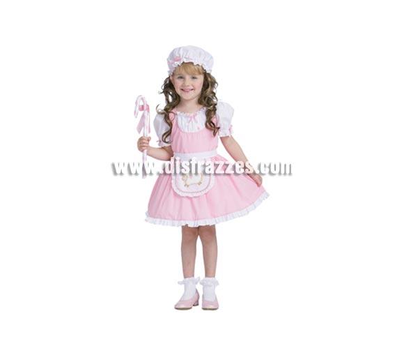 Disfraz de Pastorcita Dulce talla de 10 a 12 años. Incluye gorro, vestido, delantal y bastón.
