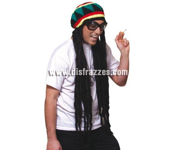 Peluca Rasta con Gorro. Ideal para disfrazarte de Bob Marley