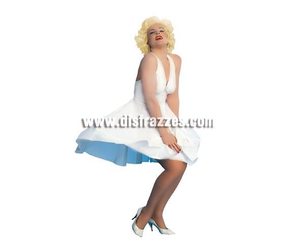 Disfraz de Marilyn Monroe (Hollywood Starlett). Talla standar de Mujer. Incluye únicamente el vestido, la peluca és imprescindible la podrás ver en sección pelucas. Traje muy original para cualquier Fiesta, siéntete como una auténtica Diva