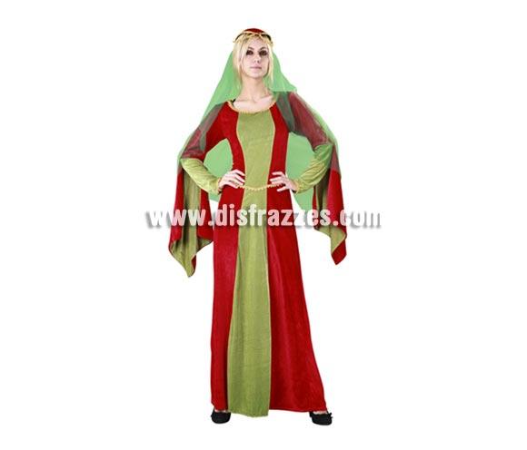 Disfraz de Lady Marian para mujer. Talla Standar M-L 38/42. Incluye tocado y vestido. Un traje Medieval para chica que está muy bien de precio y es diferente y original, perfecto para que las chicas se luzcan en las Fiestas o Ferias Medievales.