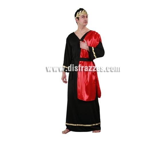 Disfraz barato de Emperador Romano para hombre. Talla standar M-L 52/54. Incluye  túnica, manto y cinturón. Éste traje de Romano sirve también para disfrazarse de César.