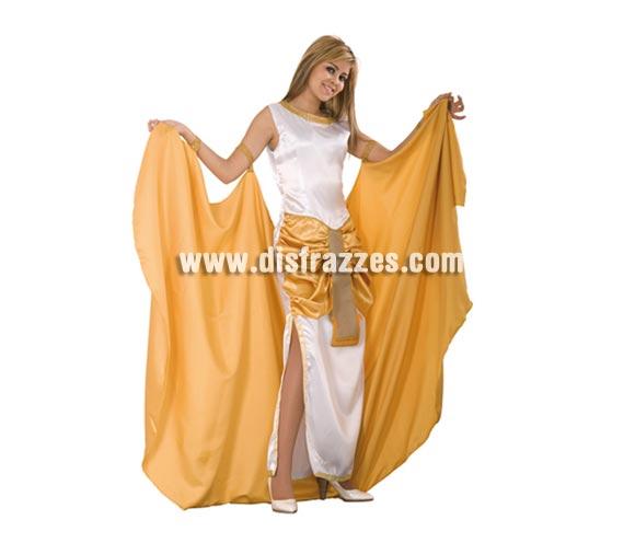 Disfraz de Faraona Egipcia para mujer. Talla standar M-L = 38/42. Incluye vestico completo y capa. Éste traje es perfecto para disfrazarse de Cleopatra del antiguo Egipcio.