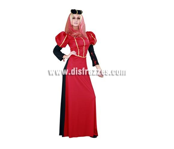 Disfraz de Lady Red para mujer. Talla standar M-L = 38/42. Incluye tocado y vestido. Éste traje de MiLady Medieval de chica es muy original además de bonito y de una excelente calidad-precio.