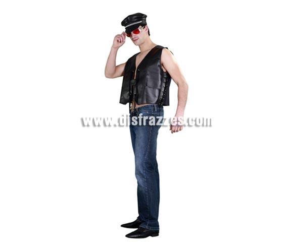 Chaleco Motero para hombre. Talla standar 52/54. Incluye sólo el chaleco. Prefecto para disfrazarse de Motero o también de Sadomasoquista con más accesorios.