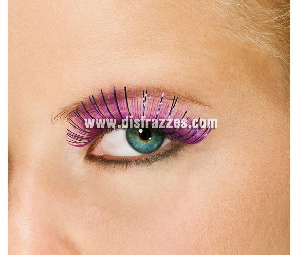 Pestañas Tinsel color purpura. Fantásticas pestañas para obtener un buén maquillaje para tus Fiestas y Carnaval.