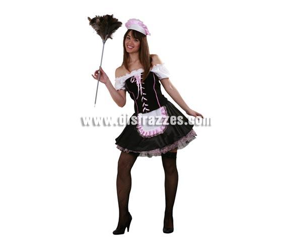 Disfraz de Sirvienta Francesa para mujer. Talla standar M-L = 38/42. Incluye vestido, corsé, enagua y cofia. Perfecto para Despedidas de Soltera.
