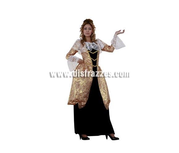 Disfraz de Marquesa para mujer. Talla standar M-L 38/42. Incluye vestido. A éste disfraz le pones una peluca de Época y queda muchísimo mejor.