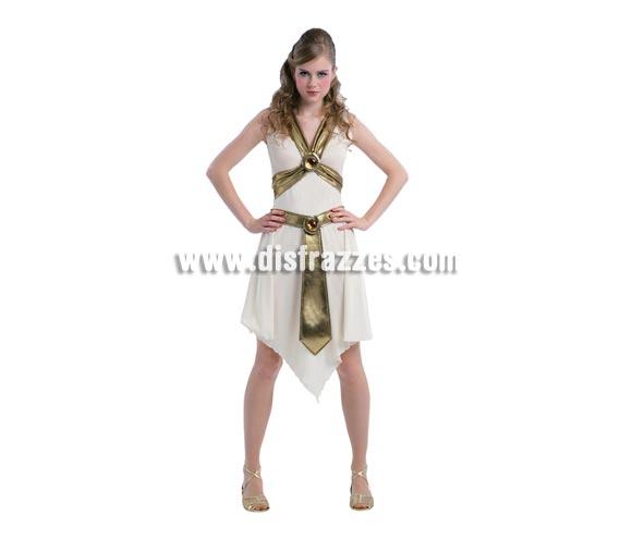 Disfraz de Reina Guerrera Romana para mujer. Talla standar M-L 38/42. Incluye vestido y cinturón. Éste traje hace pareja con la ref. 03369BT.
