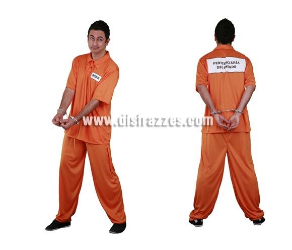 Disfraz barato de Convicto para hombre. Talla standar M-L 52/54. Incluye camisa y pantalón. Esposas NO incluidas, las podrás ver en la sección Complementos. La pareja de éste disfraz es la ref. 02825BT que también la tenemos en nuestro catálogo. Disfraz también de Preso o Presidiario del Corredor de la muerte.