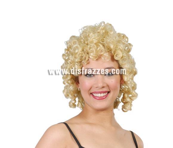 Peluca Tirabuzones rubia para mujer. Ésta peluca es genial para disfrazarse de Marilyn, de Grease o de lo que se te ocurra.