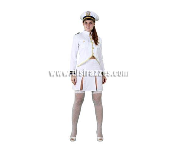 Disfraz de Cadete de la Armada Americana para mujer. Talla standar M-L = 38/42. Incluye gorro, chaqueta y falda. Éste traje de Marinera para chicas está muy original.