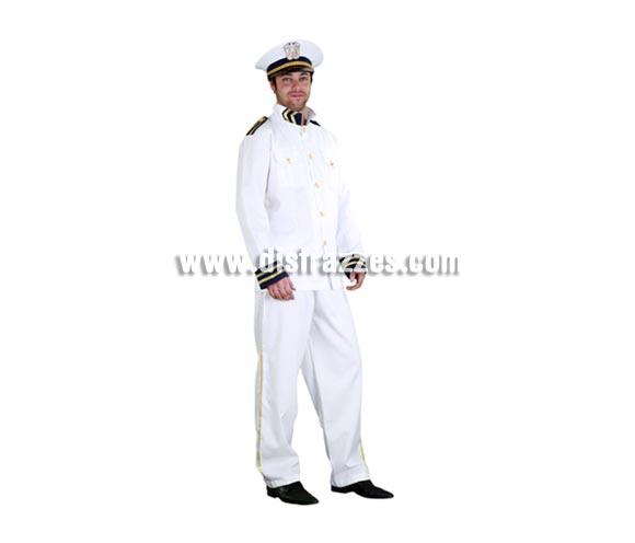 Disfraz de Cadete de la Armada Americana para hombre. Talla standar M-L 52/54. Incluye gorro, chaqueta y pantalón. Éste traje de Marinero para chico es muy original y con él irás muy pero que muy bien vestido.