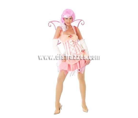 Disfraz de Ninfa de los Bosques para mujer. Talla única 38/40. Incluye vestido, alas y manguitos. Accesorios NO incluidos, podrás verlos en la sección Complementos.