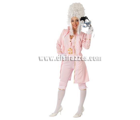 Disfraz de Marquesa para mujer. Talla única válida hasta la 38/42. Incluye chaqueta, chaleco, cinturón y pantalón. Peluca y antifaz NO incluidos, podrás verlos en la sección Complementos. Éste traje de Época para chica es una maravilla.