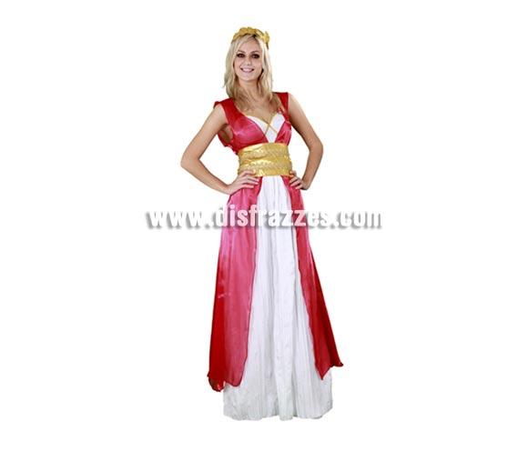Disfraz de Romana Agripina para mujer. Talla standar M-L 38/42. Incluye tocado, vestido, sobrevestido y cinturón. Éste traje es muy bonito y de excelente relación calidad-precio.