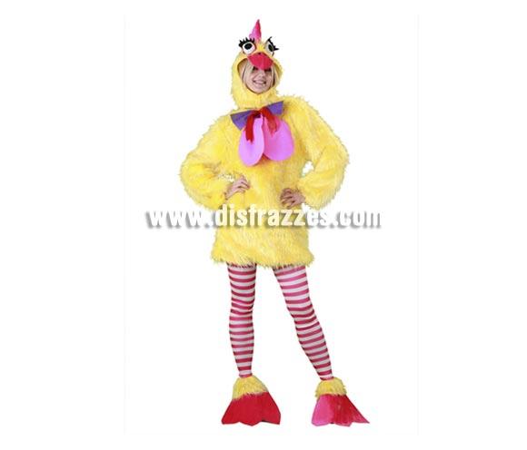 Disfraz de la Gallina Caponata para mujer. Talla standar M-L 38/42. Incluye gorro, mono, medias y cubrepies. Éste traje de chica es la caña, gracioso, calentito, completo, ¡¡lo tiene todo!! hasta tiene pareja con la ref. 10753BT, si te quieres divertir ya sabes!!!