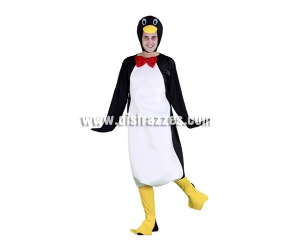 Disfraz de Pingüino para hombre. Talla standar M-L = 52/54. Incluye gorro, traje y patas. Tus amigos se van a quedar helados cuando te vean, jejejeje.
