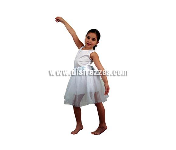 Disfraz barato de Bailarina blanco infantil barato para Carnaval. Talla de 5 a 6 años. Incluye cuerpo con tutú. ¡¡Compra tu disfraz para Carnaval en nuestra tienda de disfraces, será divertido!!