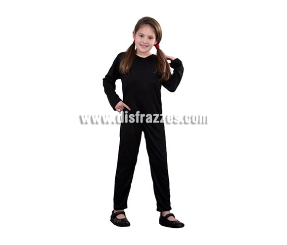 Mono completo de punto barato color negro infantil para Carnavales. Talla de 5 a 6 años.  ¡¡Compra el complemento para tu disfraz de Carnaval en nuestra tienda de disfraces, será divertido!!