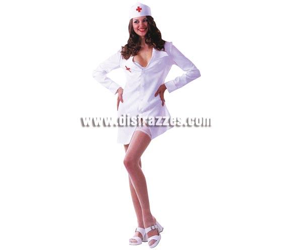 Disfraz de Enfermera Sexy para chica. Talla standar. Incluye vestido y tocado de la cabeza.