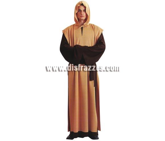 Disfraz de Fraile para hombre. Talla única. Incluye sotana con capucha y cinturón. Éste disfraz de Monje es como el de la Película El Nombre de la Rosa de Sean Connery.