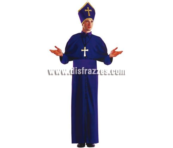 Disfraz de Obispo para hombre. Talla única. Incluye sotana, capelina, cinturón, mitra o gorro y cruz. Un traje que viene muy completo y que tiene muy buen precio.