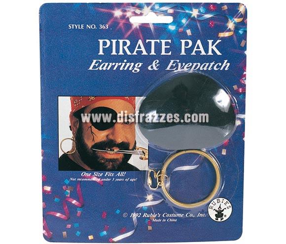 Blister con arete o pendiente y parche de Pirata.