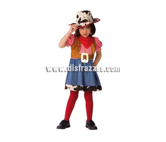 Disfraz de Vaquera para niñas de 1 a 2 años. Incluye vestido con chaleco, cinturón y sombrero. Éste traje de Pistolera para niñas bebés es muy bonito para Carnaval.